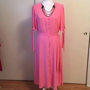 GIBSON*LATIMER Mid-Length Salmon Dress